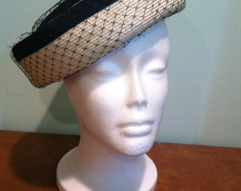 Vintage Black and White Women's Hat