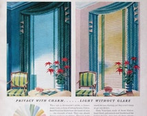 Unique window blinds related items etsy for 1940s window treatments