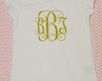 Personalized Shirt! (Gold Glitter)