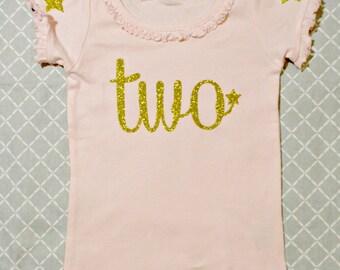 Girls Birthday Shirt Twinkle Little Star