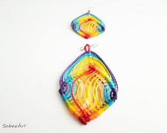 Rainbow earrings, LGBT earrings, LGBT jewelry, gay pride earrings, fun earrings