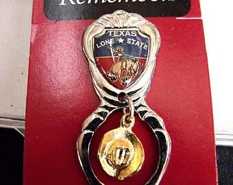 Souvenir Spoon - Collectible Texas Spoon in Original Box - Lone Star State Souvenir Spoon