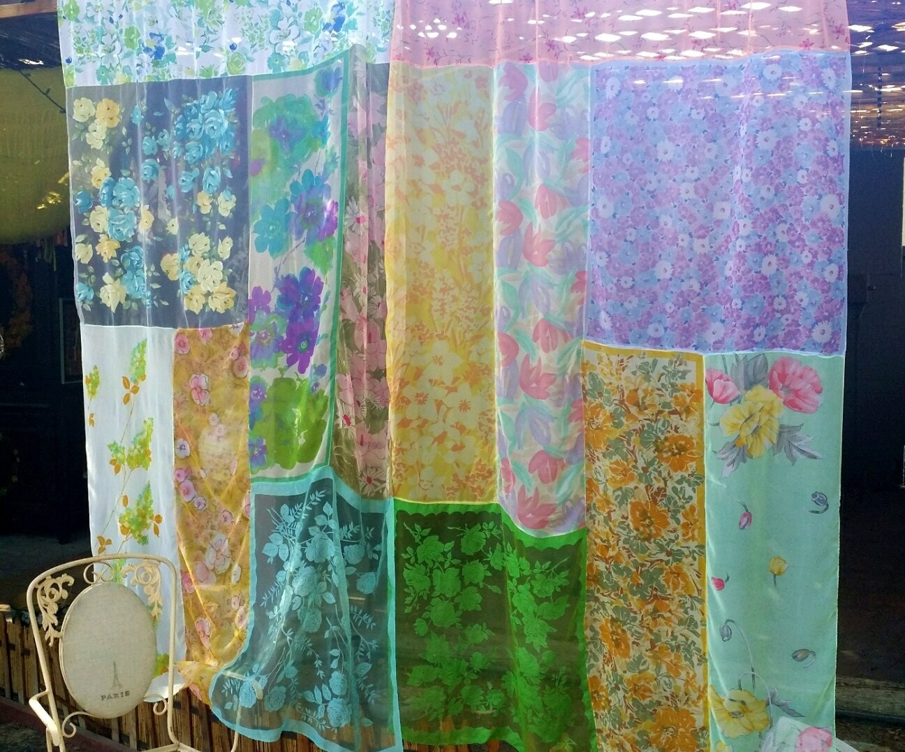 Boho Curtains Drapes panels Hippie Hippy patchwork by HippieWild