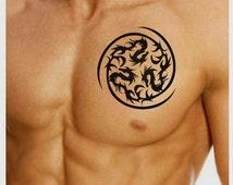 Temporary Tattoo Spiral Waterproof Ultra Thin Realistic Fake Tattoos