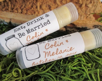 Mason Jar Wedding Favor Lip Balm Custom Wedding Lip Balm Favor Custom Lip Balm Wedding Favor Mason Jar Lip Balm Rustic Wedding Favor