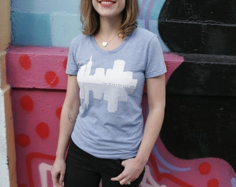 Women's SF Skyline T-Shirt - Vintage Blue