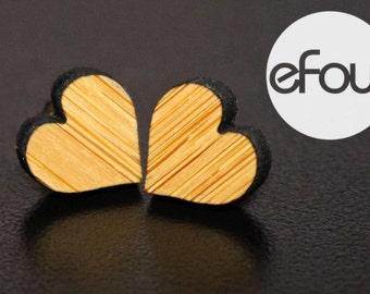 Laser cut heart shape post style earrings