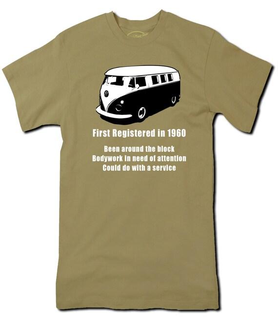1960 Birthday Tshirt Vw Funny T Shirt Men By Alltorqueclothing