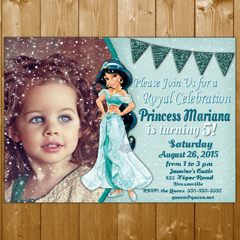 Jasmine Invitation Princess Jasmine Invitations Jasmine – Princess Jasmine Birthday Invitations