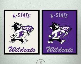 KSU Willie the Wildcat Print - Kansas State University Wildcat Poster