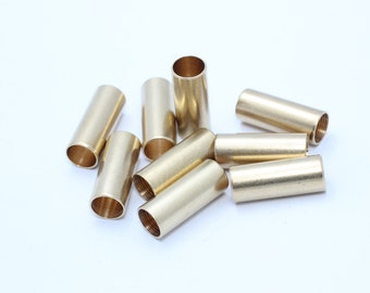 5 Pcs 8x20mm Raw Brass Tube Beads , Extra long tubes - Brass Findings , TBR23