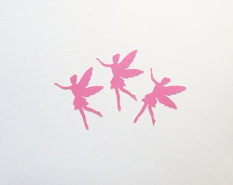 "Light Pink Fairy Die Cuts - 1.5-3"" Inch Choose Your Color/Colors Diecuts Fairytale Cute Nursery Baby Shower Scrapbooking Cards Decorations"
