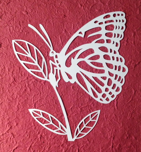 butterfly paper cut out template - template butterfly paper cut personal use by loveleelaart
