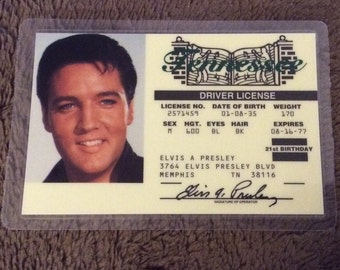 Elvis Presley, Drivers License, Tennessee License, Elvis License, Gag Gift, Elvis Fan, Elvis Party Favor