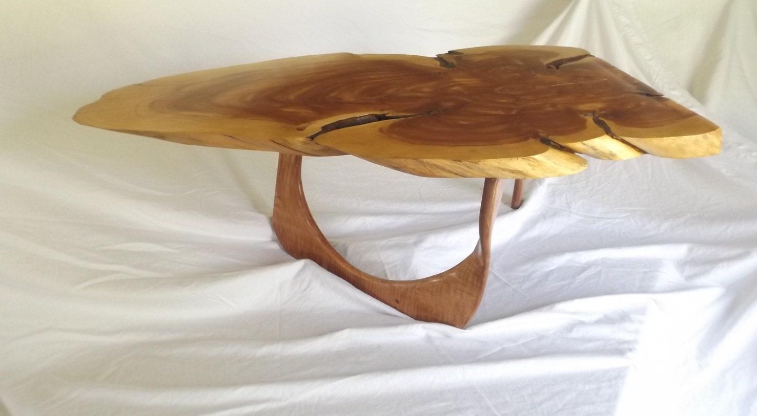 Live Edge Red Cedar Coffee Table By Fishboneworkshop On Etsy