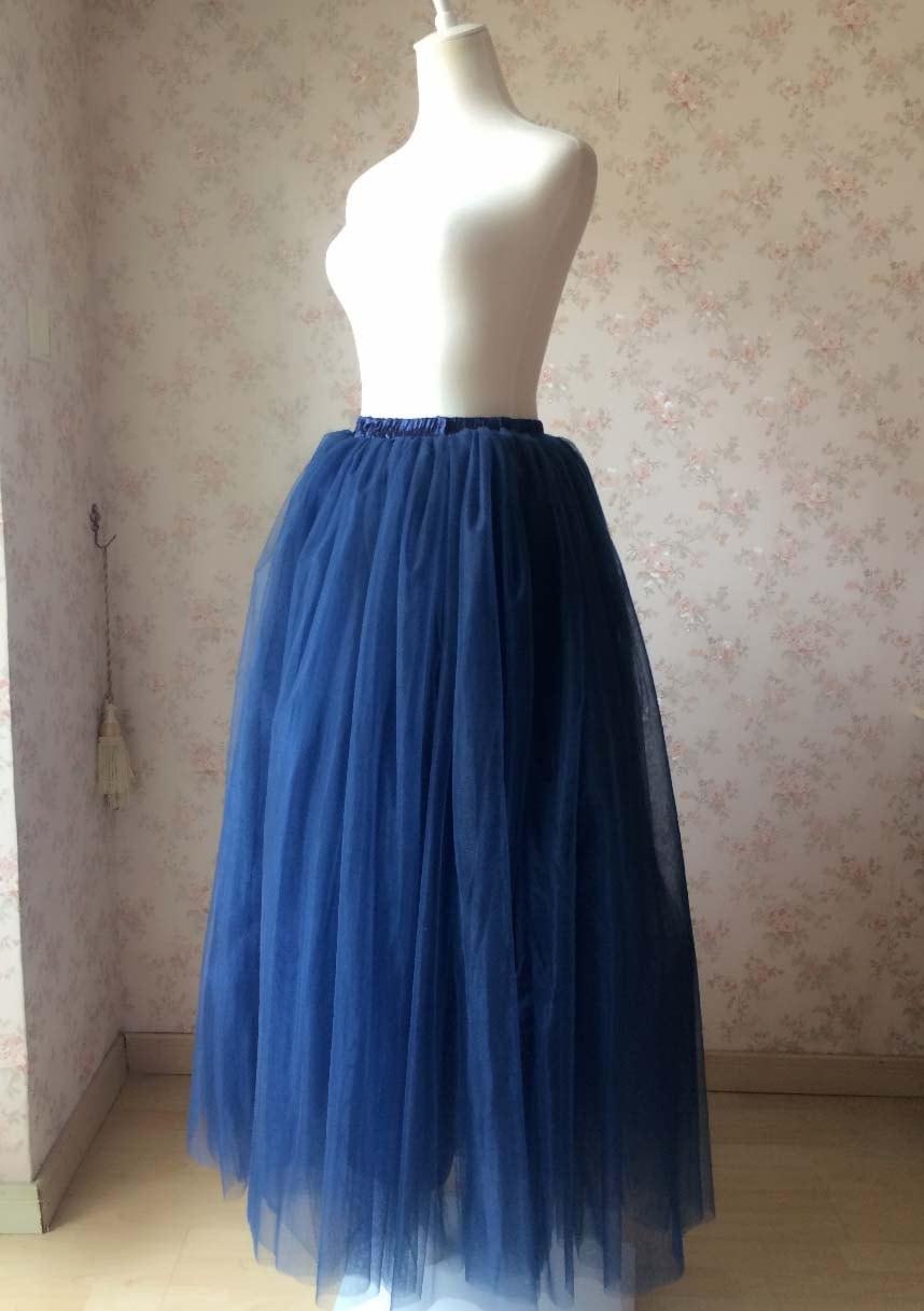 maxi skirt in navy blue tulle skirts tutu skirt