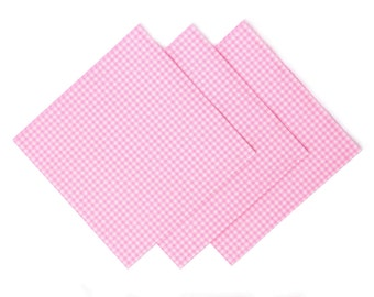 gingham plaid napkin, decoupage paper, tissue paper, white pink gingham vichy plaid retro rustic cottage shabby chic DIY baby scrapbooking