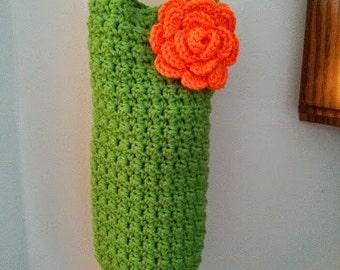 Crochet Plastic Bag Dispenser