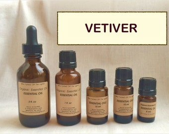 Essential Oil: Vetiver (Organic)