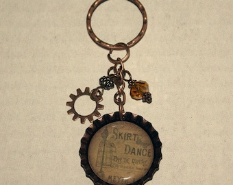Beaded Bottlecap Keychain - Dressform