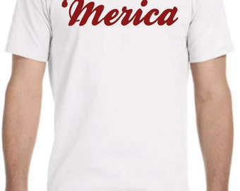 4th of July 'Merica Mens T-shirt