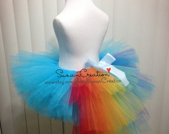 Rainbow Dash tutu Skirt, My little pony tutu skirt, Inspired. Halloween, Birthday dress, Rainbow dash, Rainbow tutu