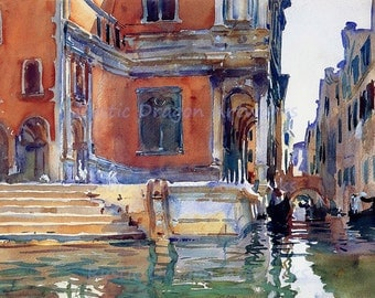 "John Singer Sargent ""Scuola di San Rocco"" c1903 Reproduction Digital Print Venice Italy Wall Hanging"