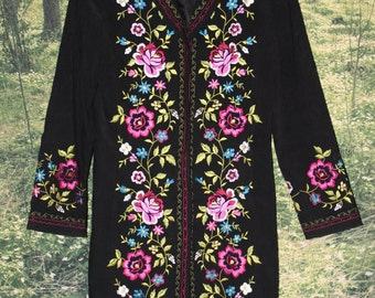 70's Embroidered Coat