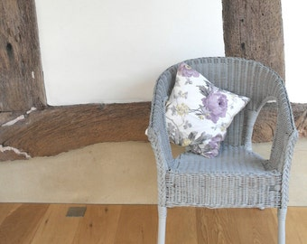 Hand Painted, Handwoven Wicker Chair