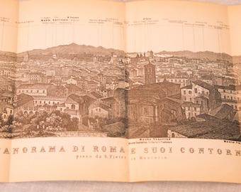 1897 Rome Italy Antique Panorama