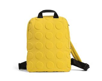 fashion backpack - waterproof backpacks - yellow backpack - womens backpack - laptop backpack - Back to School - UNOBPF