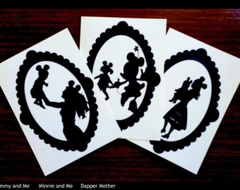 Disney Card Disney Mom Silhouette Cards for Mother's Day, Birth & Pregnancy Announcements, Expecting Mothers, Mom's Birthday