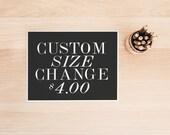 PRINTABLE Art Custom Size Change Custom Size Modification Custom Typography Custom Typography Poster Customized Request Add on