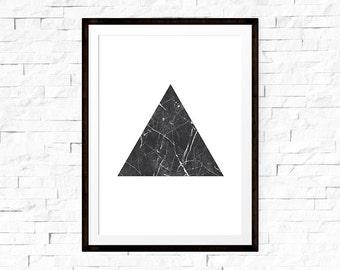 Triangle Art, Modern Wall Art, Triangle Wall Art, Marble Print, Triangle Print, , Scandinavian Modern, Marble Wall Art, Marble Decor