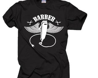 Barber T-shirt Cool Barbershop T-shirt Gift For Barber Hairdresser Tee