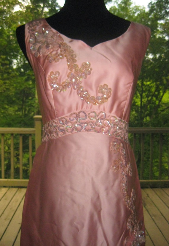 vintage pink prom dress...size 16...on sale