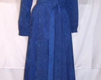 Halston, Ultramarine Blue Ultrasuede Maxi-Coat