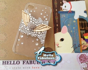 Rhinestone Studded Angle Wing  iPhone 6 iPhone 6 Plus iPhone 5 / 5s Case Cover Studded Phone Case Bling Cover