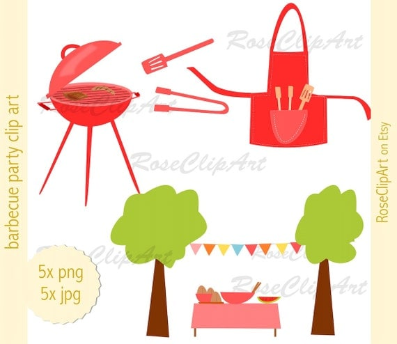 Party Balloons Zurich: 5x Barbecue Party Clipart