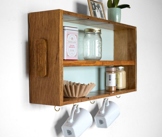 r cup r de rangement de cuisine tag re en bois caf. Black Bedroom Furniture Sets. Home Design Ideas