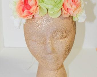 """The """"Ruthie"""" Silk Flower Kids Crown"""