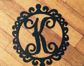 Metal Monogram Wreath