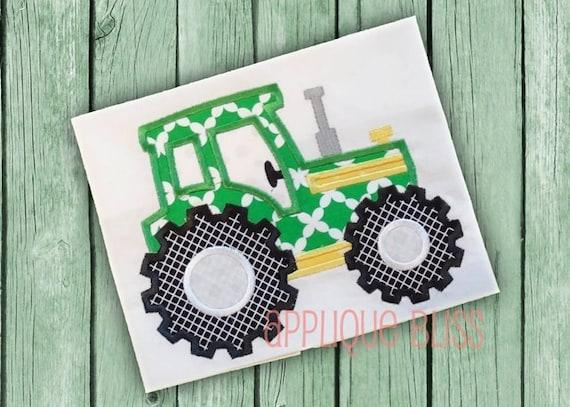 John Deere Applique Embroidery Design : Tractor digital applique design farm john deere by