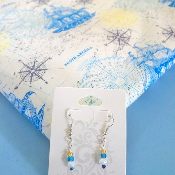 Baby Shower Gifts Hull ~ Nautical baby shower gift set for new mom earrings