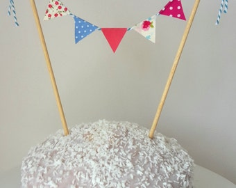 Handmade Mini Bunting Cake Topper