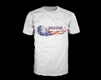 Born Free American Eagle Fourth of July Tshirt