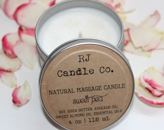 All Natural Soy Massage Candle