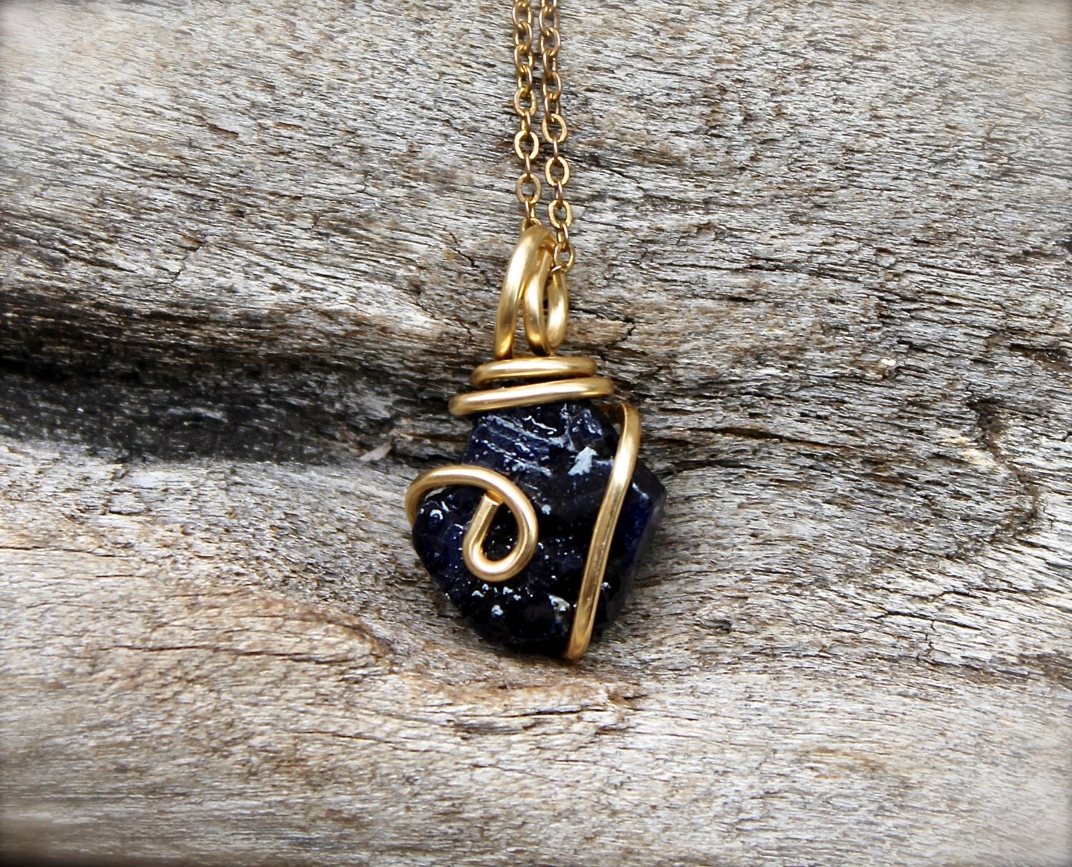 Chandeliers & Pendant LightsUnpolished Sapphire Necklace