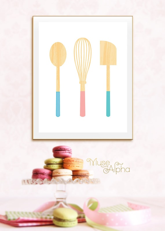Items similar to colorful bakery decor colorful pastel for Pastel diy room decor