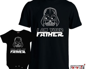 Matching Father Son Shirts I Am Your Father Shirt Son Baby Bodysuit Matching Family Shirts First Fathers Day Men's Todder Tee MD-428